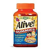 Nature's Way Alive! Children's Premium Gummy Multivitamin, Gluten Free, Made with...