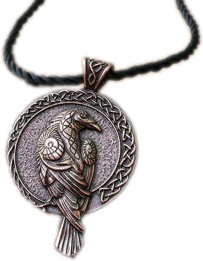 1pcs Norse Talisman Viking Raven Pendant Black Bird Celt Crow Necklace Men Pendant Jewelry, Ancient Red Copper, 55cm   Amazon.com