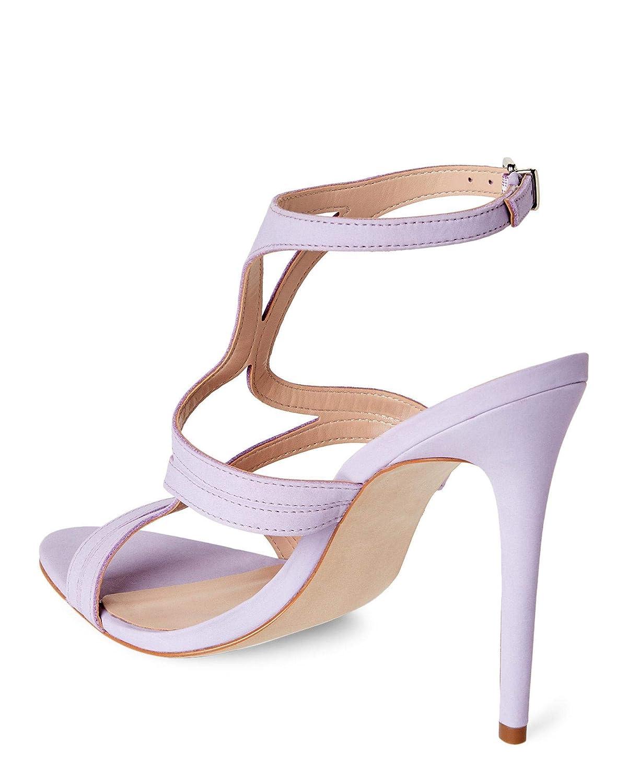 Lavender Steve Madden Womens Sidney Heeled Sandal