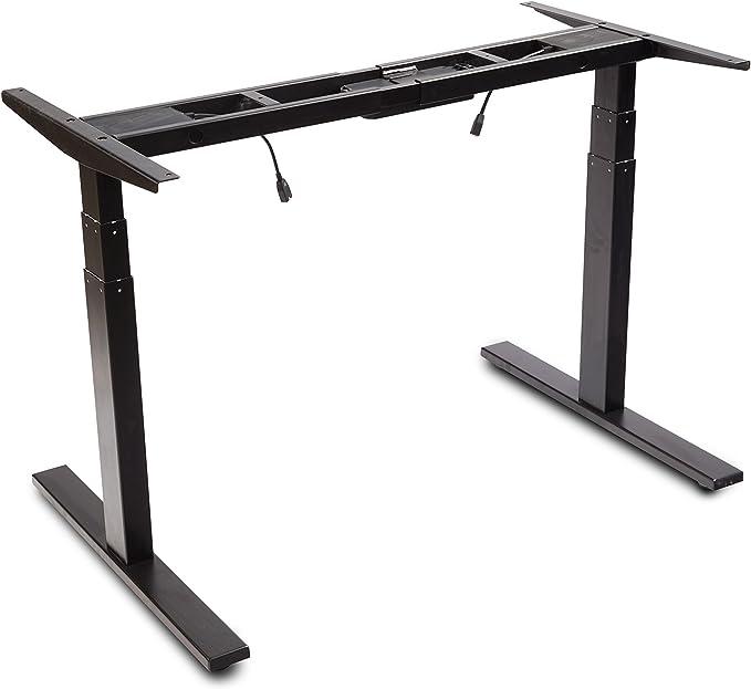 Amazon.com: VWINDESK VJ201-S3 Electric Height Adjustable Sitting Standing Desk Frame Only/Sit Stand - Dual Motors 3 Segment Motorized Desk Base Only,Black: Kitchen & Dining