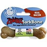 Pet Qwerks Zombie NYLON BarkBone - Chew Toy for Aggressive Chewers, Tough Durable Extreme Power Chewer Bone | Made in USA -