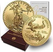 2018 W 1 oz Burnished Gold Eagle (w/Box & COA) $50 Burnished