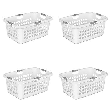 STERILITE 2 Bushel Laundry Basket, White (Available in Case of 4 or Single Unit)