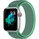 Youther Compatible with for Applle Watch Band 38mm 40mm 42mm 44mm, Soft Adjustable Lightweight Replacement Wristbands Compati