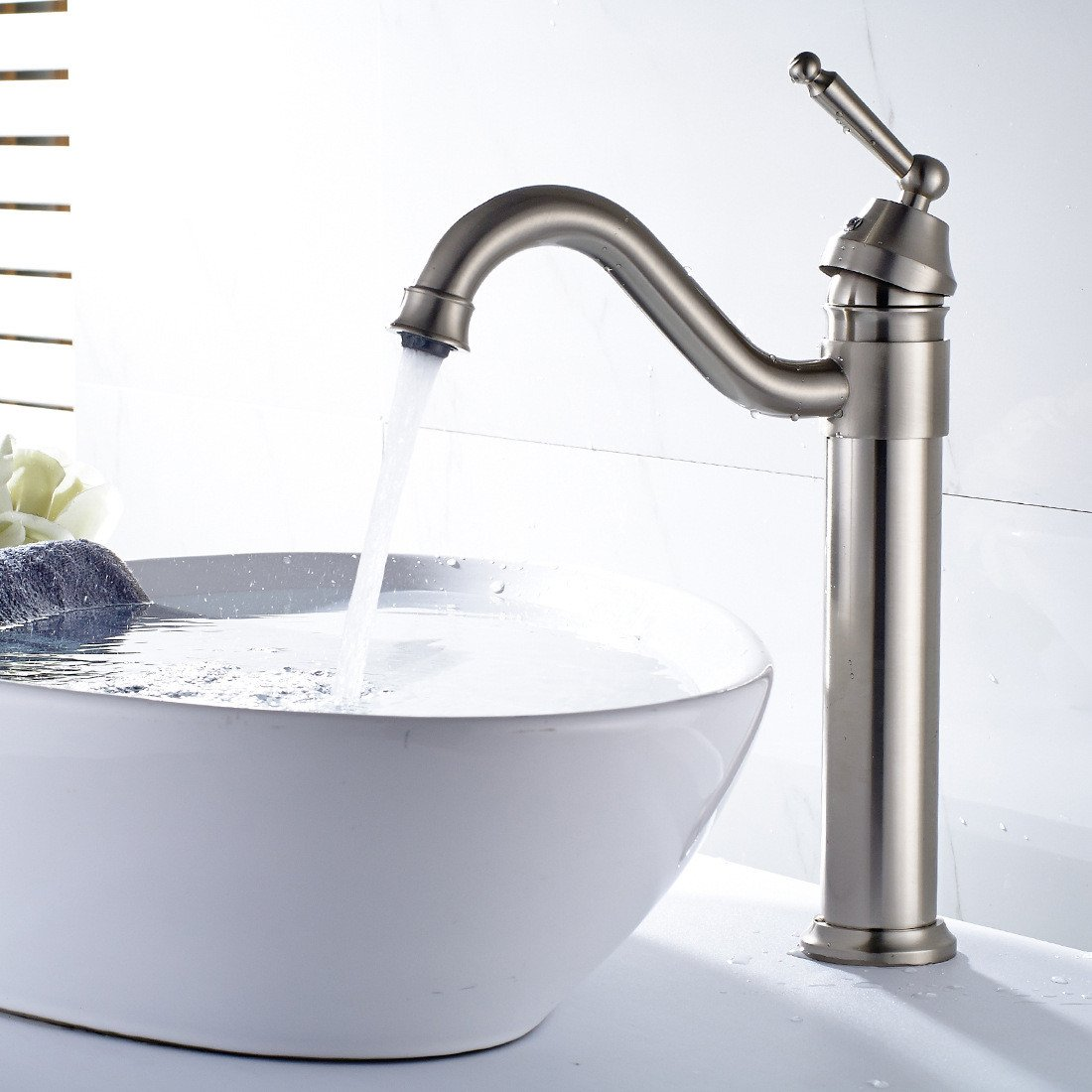 ZXYSink faucet nickel wire bathroom basin tap redation table pot of cold and hot water tap