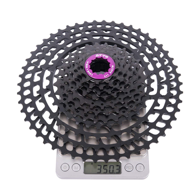 Qewmsg ZTTO 11 Geschwindigkeitskassette 11-50T Ultralight Freilaufkompatibel Fahrrad Schwarz