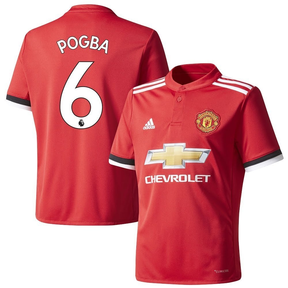 Man Utd Home Trikot 2017 2018 + Pogba 6 - XL