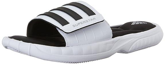ec945d0beb2a Adidas men superstar slide sandals us white black silver buy online at low  prices in india