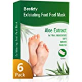 Foot Peel Mask 6 Pack,Exfoliating Foot Mask Booties Natural Baby Foot Care Treatment Peeling Off Calluses and Dead Skin Cells