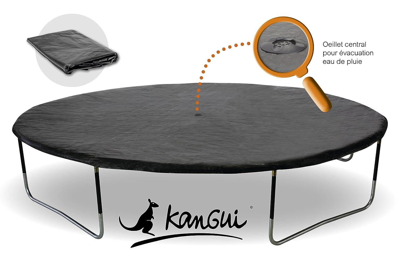 Kangui – Lona de protección para cama elástica – Compatible con todas las marcas de camas elásticas, negro, 4,30 m