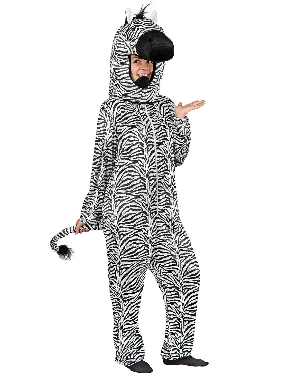 KULTFAKTOR GmbH Zebra Kostüm schwarz-Weiss M / L