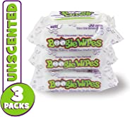 Boogie Wipes, Unscented Wet Wipes for Baby and Kids, Nose, Face, Hand and Body, Soft and Sensitive Tissue Made with Natural S