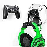 [Versão mais recente] 2 conjuntos de controles e suporte de fone de ouvido com suportes de cabo para PS5, PS4, Xbox One Switc