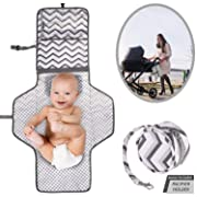 Portable Baby Diaper Changing Pad   Cushioned & Waterproof Changing Station Cover for Girls & Boys   Travel Organizer Bag with Liners & Stroller Strap   Perfect for Infants & Newborns   Great as GlFT