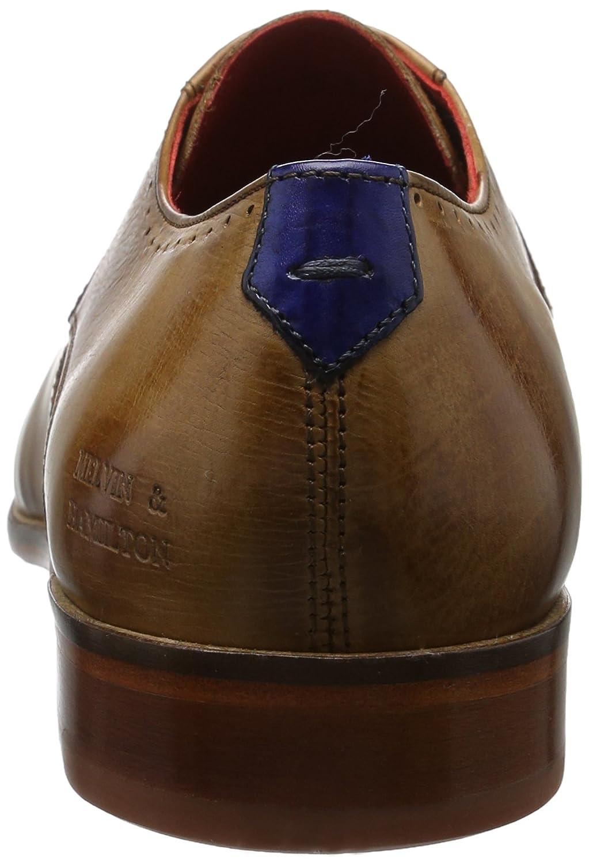MELVIN & HAMILTON HAMILTON HAMILTON MH HAND MADE Schuhe OF CLASS Herren Toni 9 Derby Mehrfarbig (Crust/Crust Perfo Tan/E-Blau Ls Nat.) 0c6f33