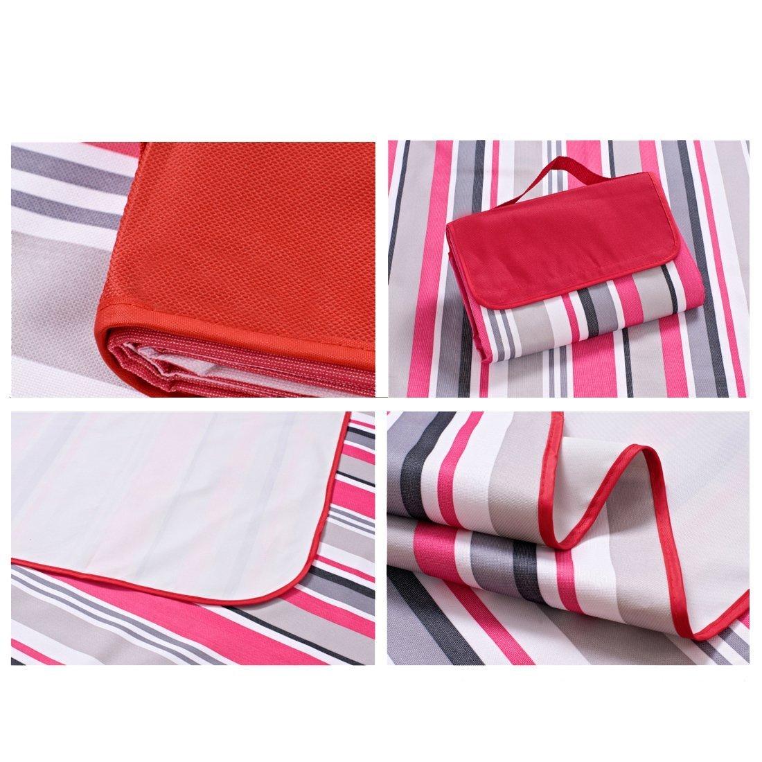 Gran fiesta Picnic alfombrilla de cenar impermeable manta impermeable cenar para jardín al aire libre actividad (rojo) (Reino Unido envíos)) 59d1ee