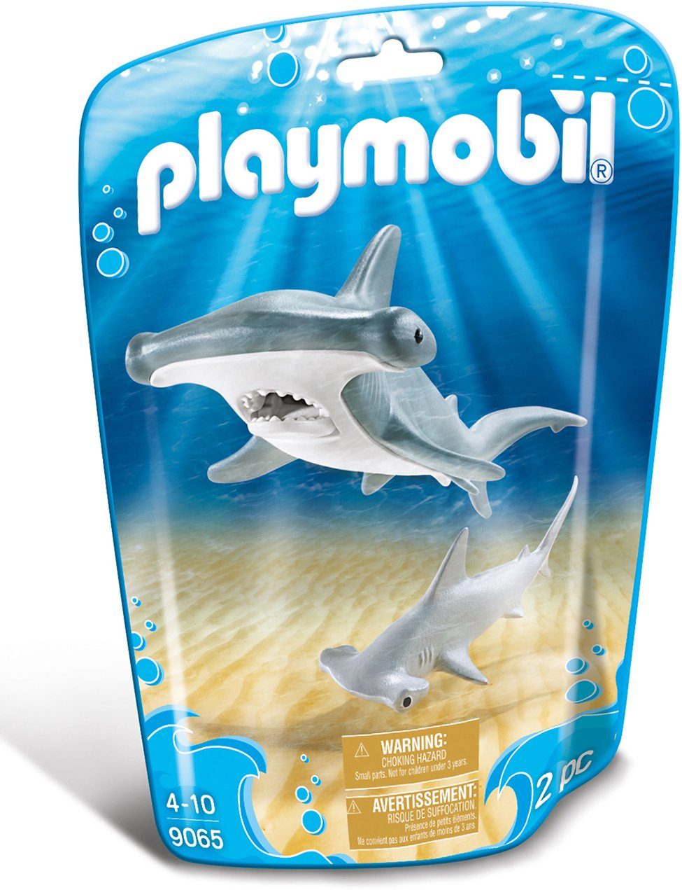 Playmobil-9065 Tiburón Martillo y Bebé, Gris, Color Blanco (9065) product