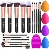 BESTOPE Makeup Brush Set, 16 Pcs Makeup Brushes & 4 Makeup Sponges & 1 Brush Cleaner, Professional Make Up Brush Beauty Blend