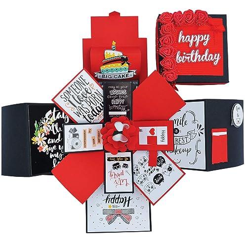 DecuT 3 Layered Romantic Handmade Explosion Box For Anniversary Love Gift Birthday