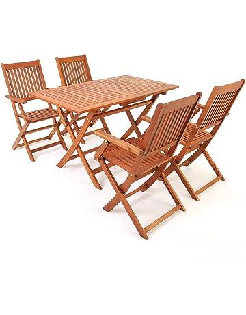 Deuba Asiento Grupo Muebles de Jardín (Essgruppe eucalipto Madera Acacia Madera Modelo Selección