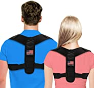 Posture Corrector For Men And Women - USA Patented Design - Adjustable Upper Back Brace For Clavicle Support and Providing P