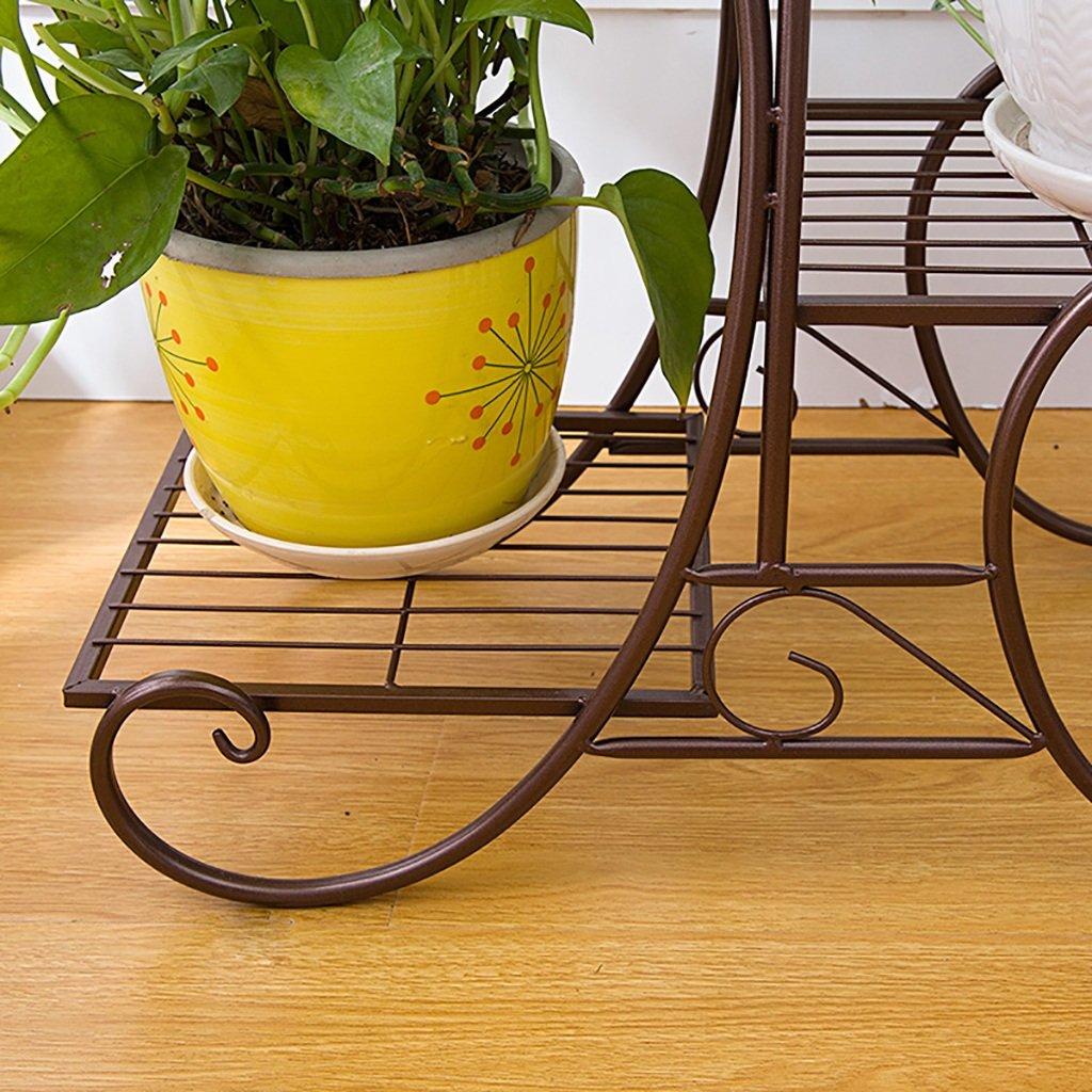 d54a236767e3 Soporte de hierro flor Bastidores de flores de de de hierro piso balcón  macetas plantas de araña verde interior ...