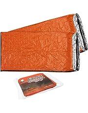 2 Premium Saco de Dormir de Emergencia, Bivvy - Saco de Dormir de Supervivencia,
