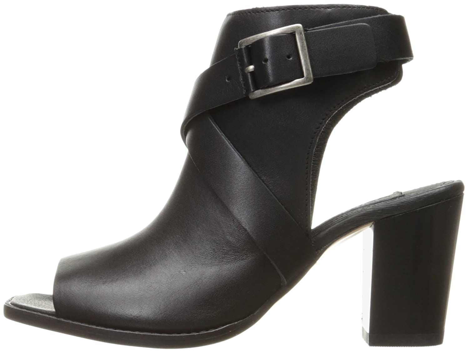 Wolverine 1883 by Women's Piper Open-Toe Boot B01IAOFDP4 8 B(M) US|Black Leather