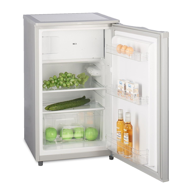 Kühlschrank mit Gefrierfach A   (90 Liter) Silber - 4-Sterne ...