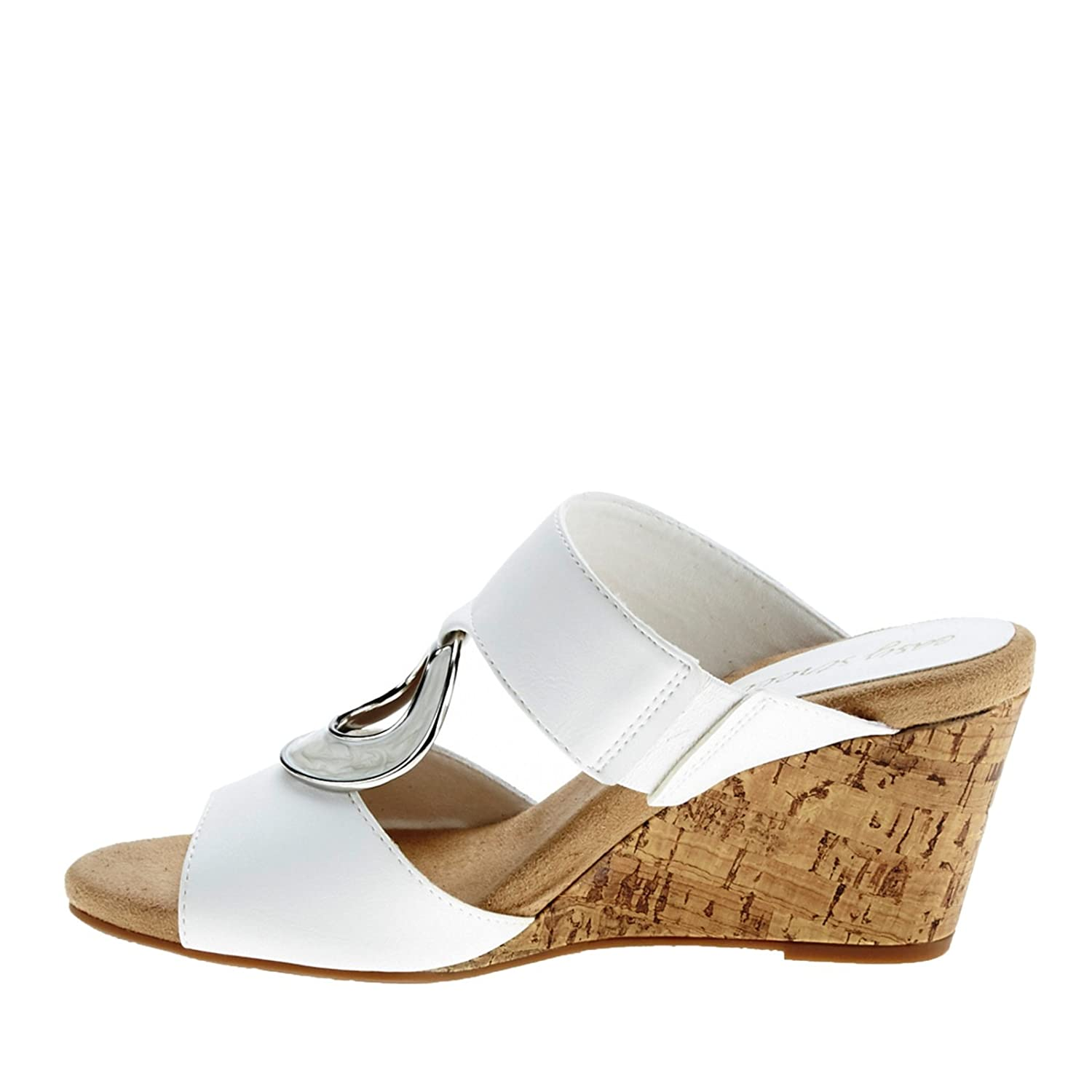 Easy Street Women's Ever Wedge Sandal B01AA7SQNU 7 B(M) US|White