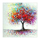 MXJSUA 5D Diamond Painting Full Round Drill Kits For Adults Pasted Embroidery Cross Stitch Arts Craft for Home Wall Decor Colorful Tree 12x12in