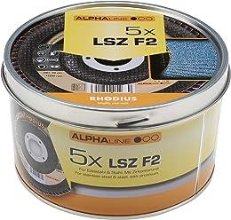 RHODIUS INOX Rollenware SPBR 40 x 25.000 mm K80 f/ür Handschliff Schleifband Schmirgelpapier 1 St/ück