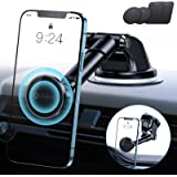 [Bumps Friendly] andobil Magnetic Phone Holder for Car, [Strong Magnetic] Universal Dashboard Windshield Car Mount Magnet Com