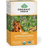 Organic India Calming Tulsi Herbal Tea Favorites - Ashwagandha, Honey Chamomile, Sleep - Adaptogen, Vegan, Gluten-Free, USDA