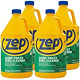 Zep Acidic Toilet Bowl Cleaner 128oz R43710 (Case of 4) - 2x thicker than before! Professional Strength, Thick Gel Clings to