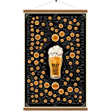 Varieties Of Beer Chart Poster Print On Canvas Infographic Hanger Wall Art Drink Painting Lover Gift For Home Kitchen Bar Pub