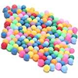 Kevenz 60-Pack Ping Pong Balls, Assorted Color Table Tennis Balls, Multi-Color Beer Pong Balls for Beer Pong Games, Arts and