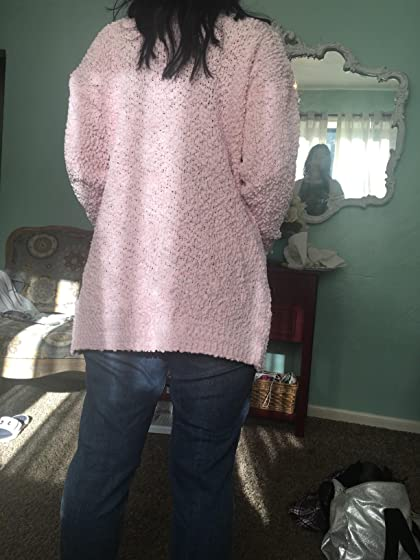 Ru Sweet Women's Long Sleeve Soft Chunky Knit Sweater Open Front Cardigan Outwear with Pockets Perfect length