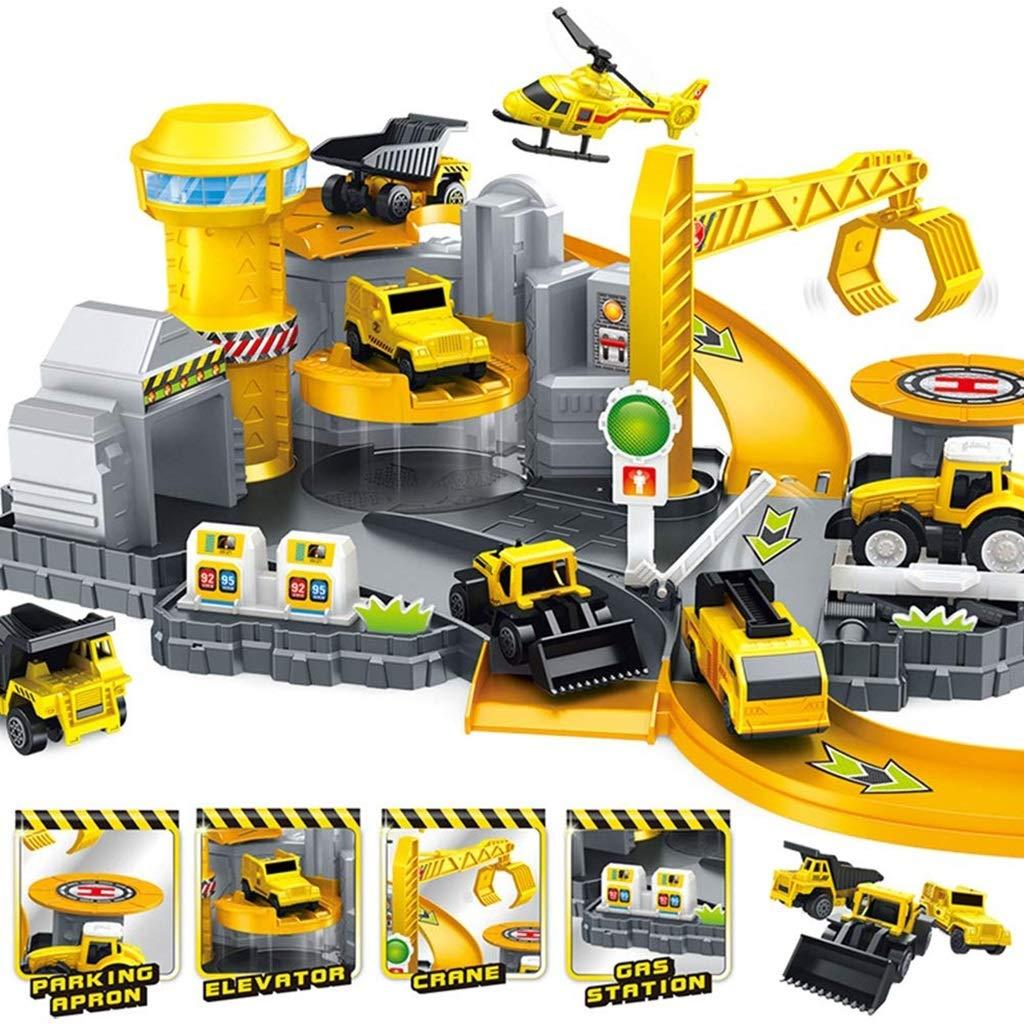Ich werde jetzt Maßnahmen ergreifen Kinder Track Legierung Auto Spielzeug Reifen Baustelle Set Einstellung DIY Engineering Auto Junge Geschenk
