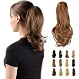 """Sofeiyan 13"""" Ponytail Extension Long Curly Ponytail Clip in Claw Hair Extension Natural Looking Synthetic Hairpiece for Women"""