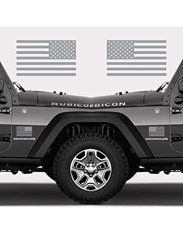 0b24b5f5 Classic Biker Gear Subdued American Flags Tactical Military Flag USA Decal  Jeep 5