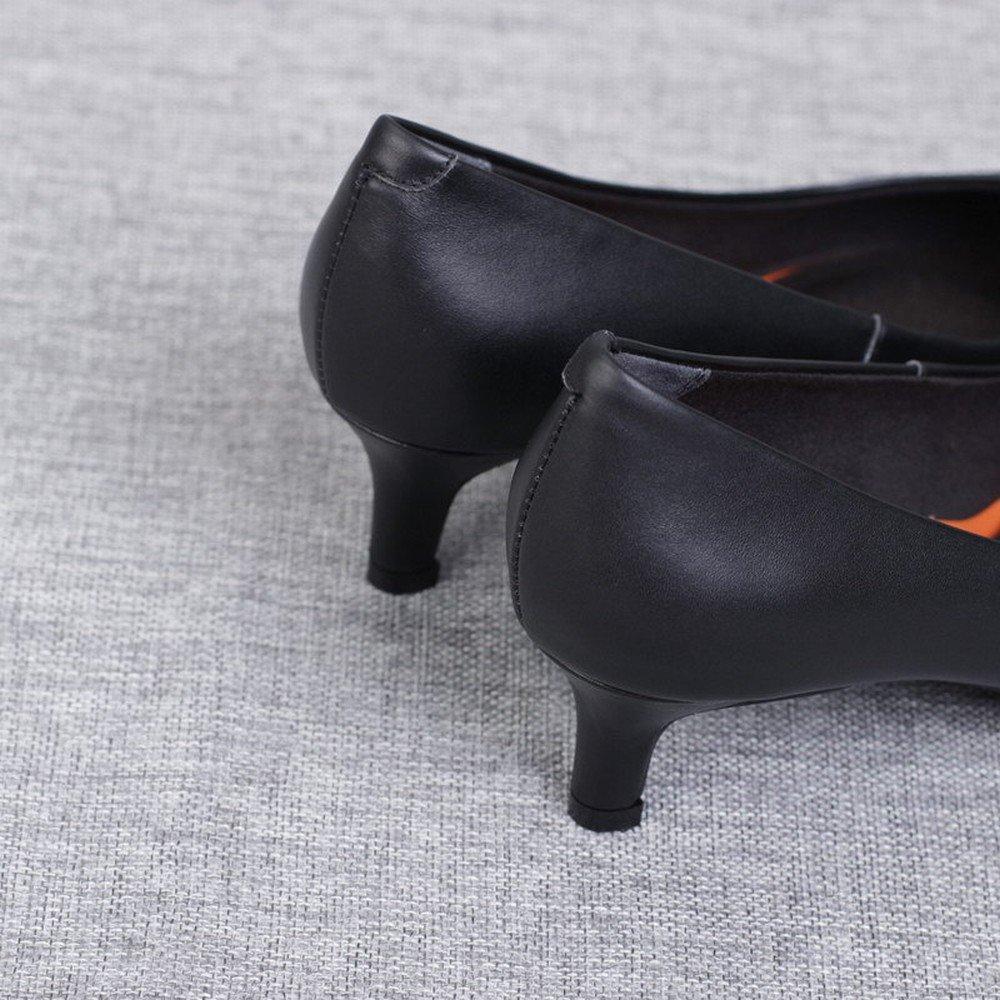 DHG Weiße der Schuhe der Weiße Westlichen Hohen Absätze,Schwarz,34 - 60650b
