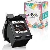 cseein Remanufactured for HP 67 67XL Ink Cartridges Black for HP Envy 6052 6055 6058 6075 Pro 6452 6455 6458 DeskJet 1255 273