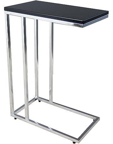 Aspect Bellini Sofa - Mesa Auxiliar para Ordenador portátil, Madera, Color Negro, 46