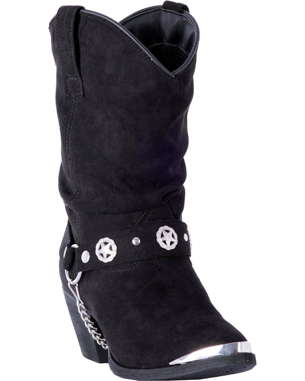 Dingo Women's Camilla Slouch Boot Pointed Toe - Di8920 B078H29FWV 6 B(M) US|Black