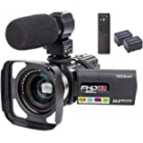 Camcorder Video Camera YEEHAO WiFi HD 1080P 24MP 16X Powerful Digital Zoom Camera with Microphone and Wide Angle Lens Remote