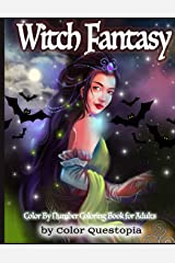Witch Fantasy Color By Number Coloring Book For Adults: Enchanted Mosaic Color-By-Number With Magical Women and Gothic Halloween Witchcraft (Fun Adult Color By Number Coloring) Paperback