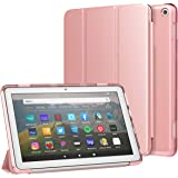 MoKo Case Fit All-New Kindle Fire HD 8 Tablet and Fire HD 8 Plus Tablet (10th Generation, 2020 Release) Case, Soft TPU Transl
