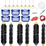 LOVECO Replacement Parts Kit for iRobot Roomba 675 645 655 671 677 Robotics,6 Filter,8 Side Brush,3 Bristle and Flexible Beat