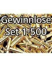 Röllchenlose gold-glänzend, Set 1-500